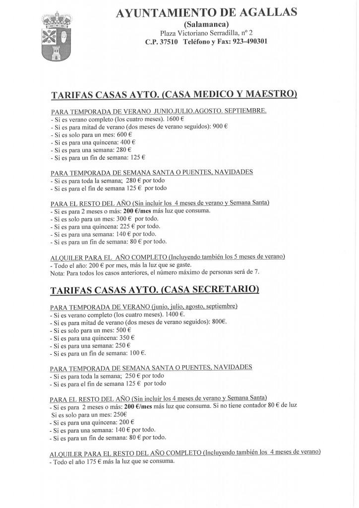 TARIFAS ACTUALES CASAS AYTO-1