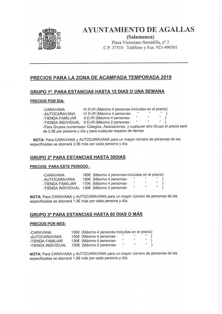 TARIFAS DEFINITIVAS CAMPING AGALLAS 1