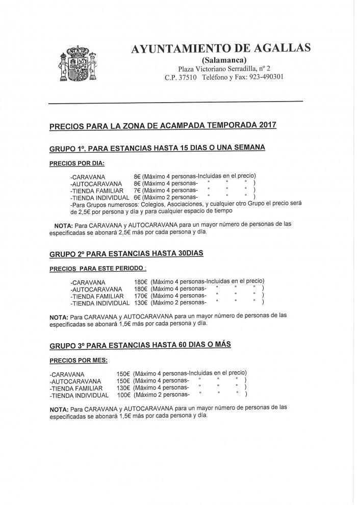 TARIFAS ZONA ACAMPADA AGALLAS 2017-1